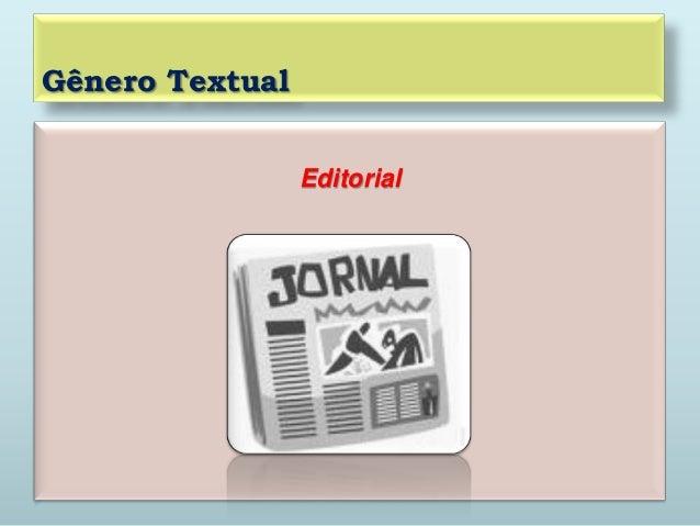 Gênero TextualEditorial