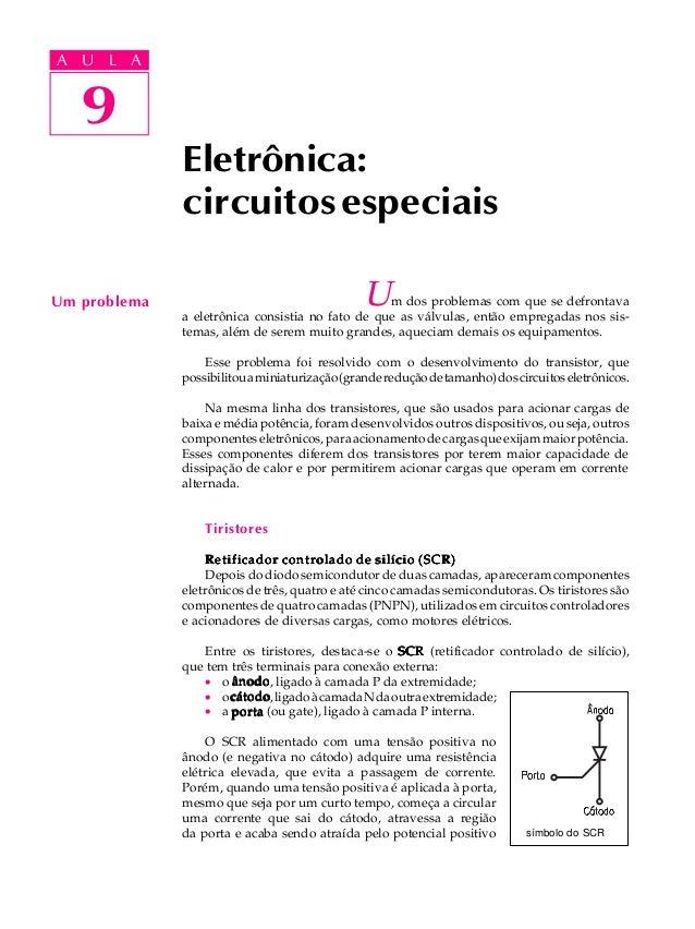 A UA U L A     L A      9   9              Eletrônica:              circuitos especiaisUm problema                        ...