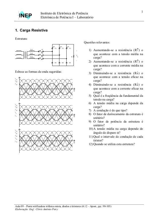 1                        Instituto de Eletrônica de Potência                        Eletrônica de Potência I – Laboratório...