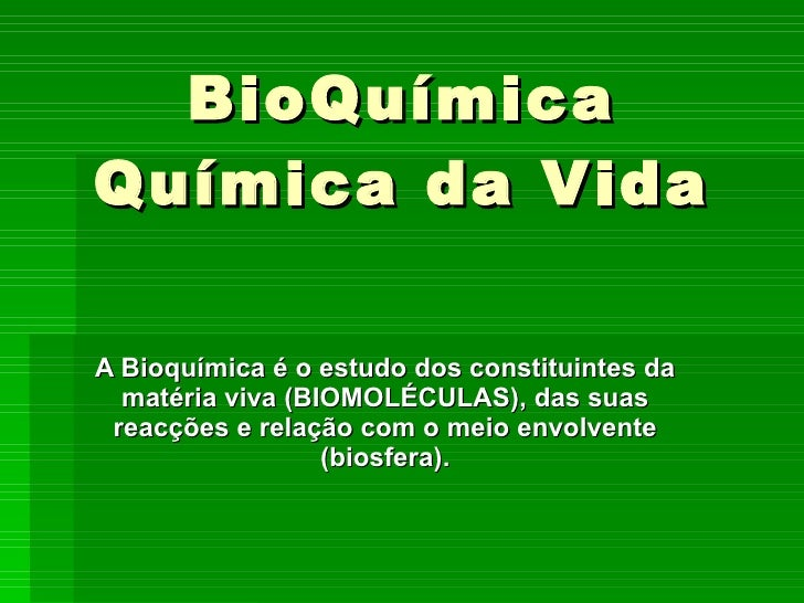 Biomoléculas parte 1