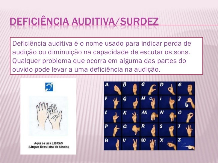 Deficiência auditiva é o nome usado para indicar perda de audição ou diminuição na capacidade de escutar os sons. Qualquer...