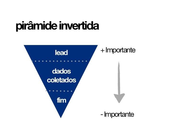 Pirâmide invertida | Sites para advogados