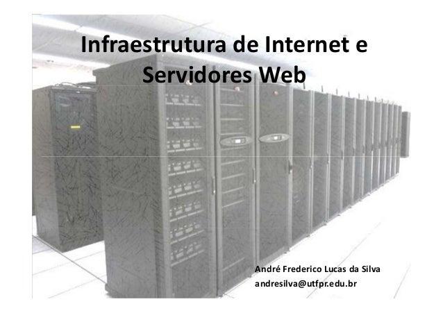 Infraestrutura de Internet e      Servidores Web                André Frederico Lucas da Silva                andresilva@u...