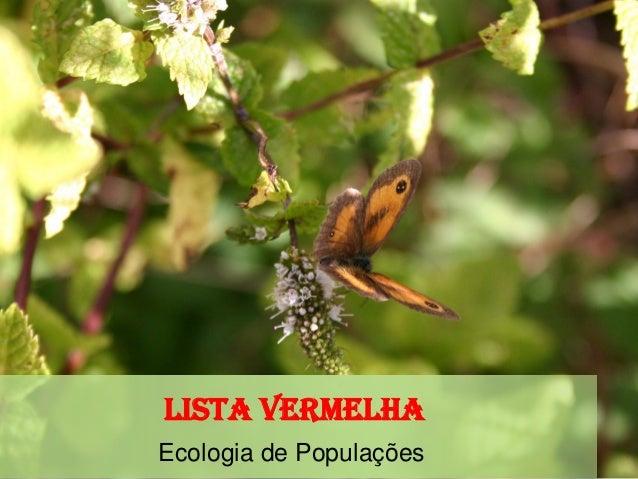 Lista Vermelha Ecologia de Populações