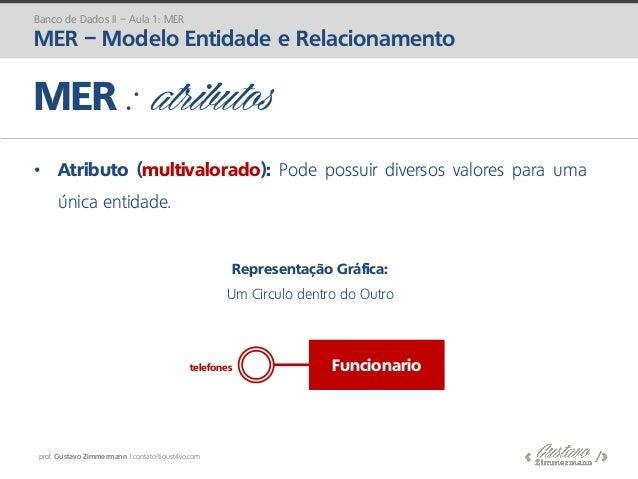 prof. Gustavo Zimmermann | contato@gust4vo.com • Atributo (multivalorado): Pode possuir diversos valores para uma única en...