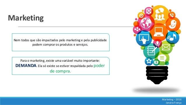 Marketing Nem todos que são impactados pelo marketing e pela publicidade podem comprar os produtos e serviços. Marketing –...
