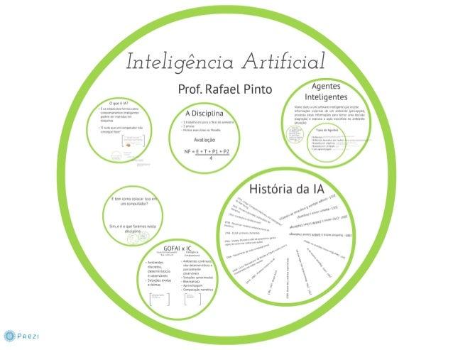 """Ínfehgência Arfificial  Prof.  Rafael Pinto ^9?""""t°5 Inteligentes  Nom!  uma ;  um mm. ; mmngcnxc um:  !act-bn  O nua é IA?..."""