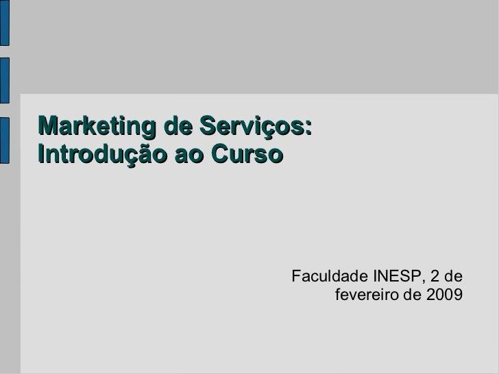 Marketing de Serviços: Introdução