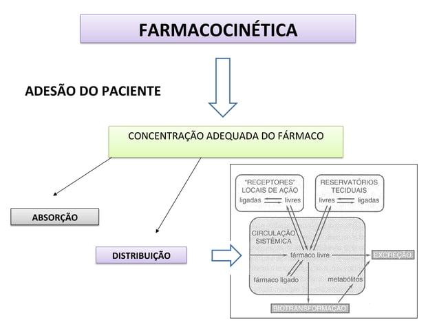 FARMACOCINÉTICA   ADESÃO  DO  PACIENTE   CONCENTRAÇÃO  ADEQUADA  DO  FÁRMACO    ABSORÇÃO    DISTRIBUIÇÃO...