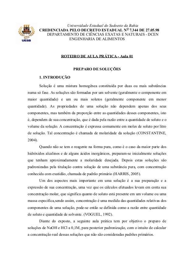 Universidade Estadual do Sudoeste da Bahia CREDENCIADA PELO DECRETO ESTADUAL NO 7.344 DE 27.05.98 DEPARTAMENTO DE CIÊNCIAS...