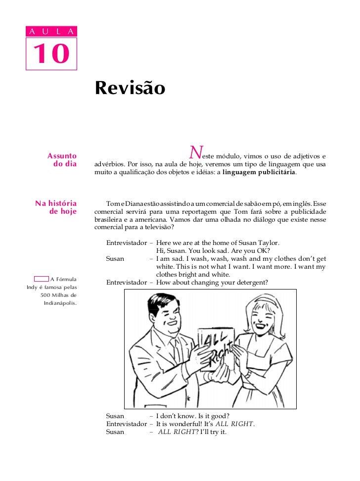A UA U L A      L A        10  10                       Revisão        Assunto         do dia                             ...