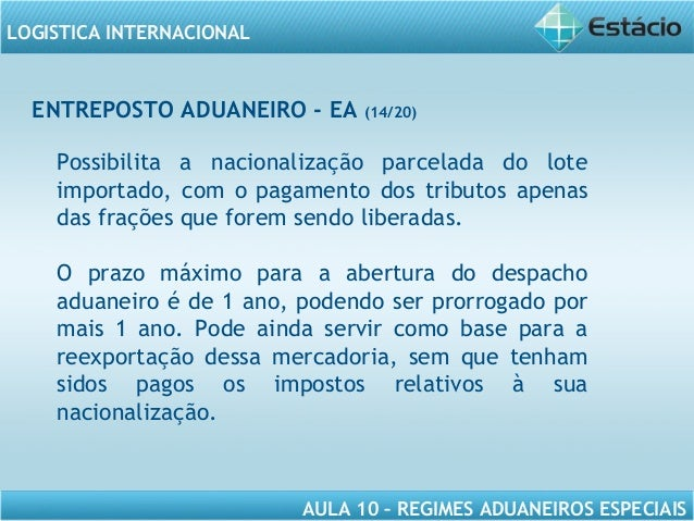 REGIMES ADUANEIROS DOWNLOAD