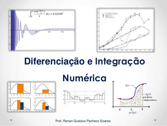 Prof. Renan Gustavo Pacheco Soares Diferenciação e Integração Numérica