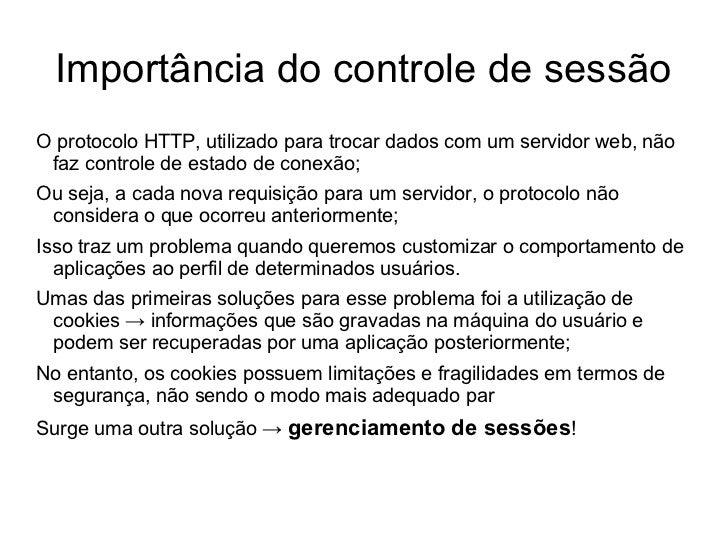 Aula 11  - Controle de sessão em PHP - Programação Web Slide 2