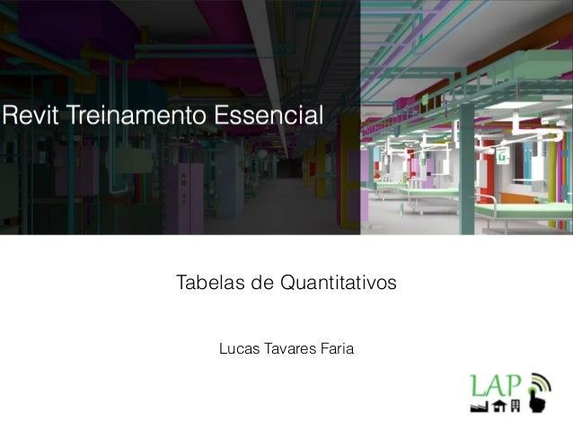 Lucas Tavares Faria Tabelas de Quantitativos