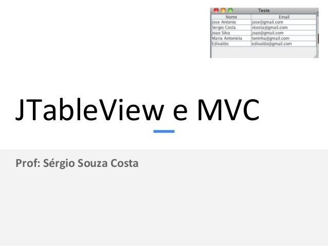 Prof: Sérgio Souza Costa Banco de Dados + SWING em Java Usando o Controle JTable