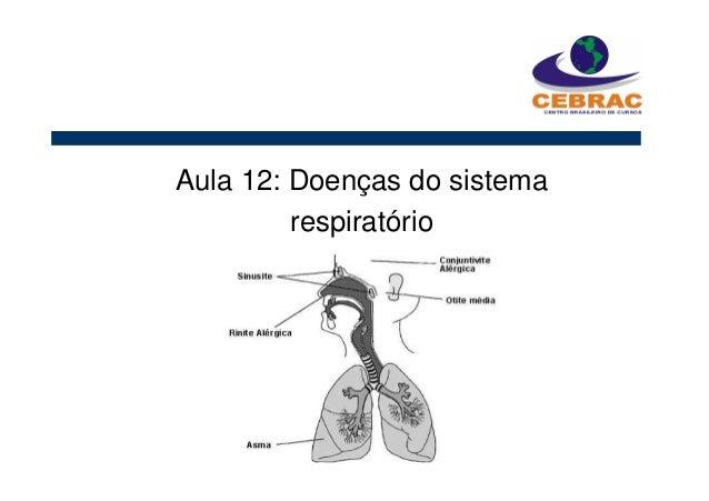 Aula 12: Doenças do sistema respiratório