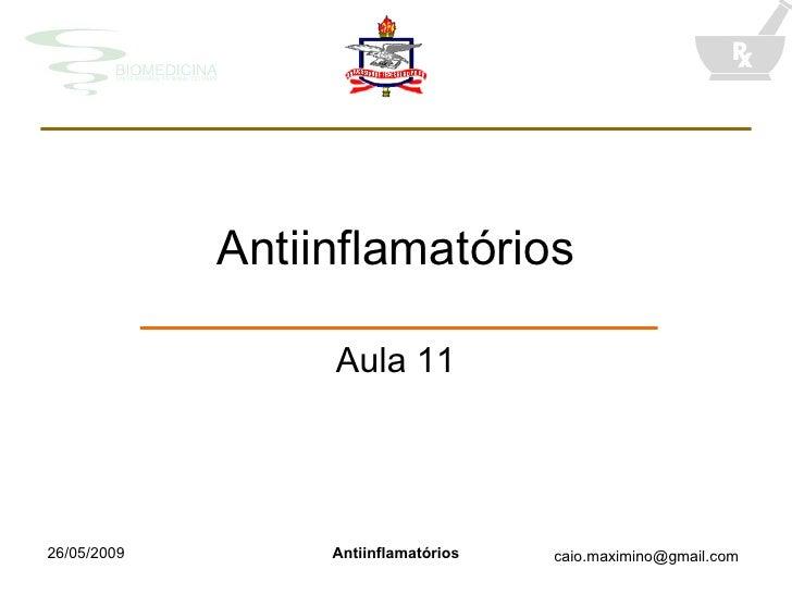 Antiinflamatórios Aula 11