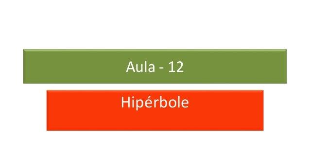 Hipérbole Aula - 12