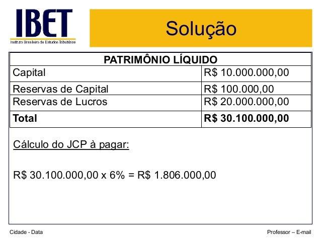 Solução  PATRIMÔNIO LÍQUIDO  Capital R$ 10.000.000,00  Reservas de Capital R$ 100.000,00  Reservas de Lucros R$ 20.000.000...