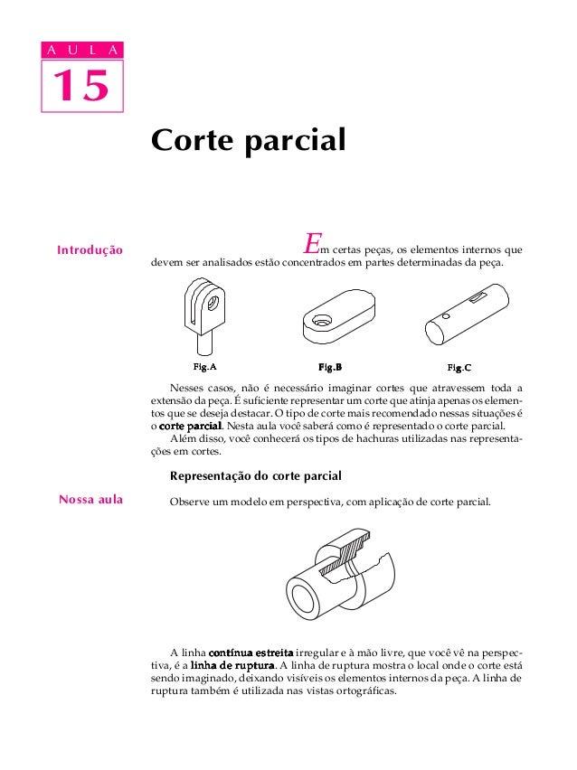 A U L A  A U L A  1155  Introdução  Corte parcial  Em certas peças, os elementos internos que  devem ser analisados estão ...