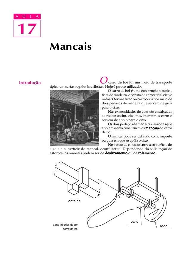 A UA U L A     L A    1717              Mancais Introdução                                    O      carro de boi foi um m...