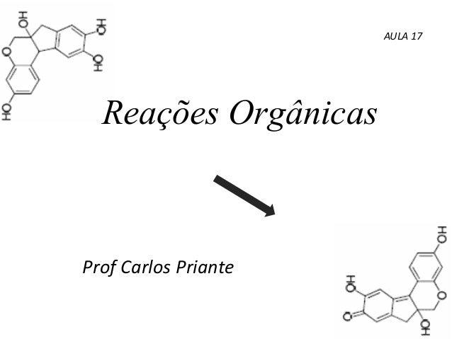 Reações Orgânicas Prof Carlos Priante AULA 17
