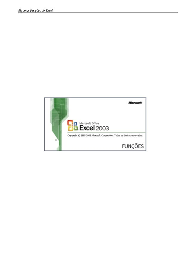 Algumas Funções do Excel
