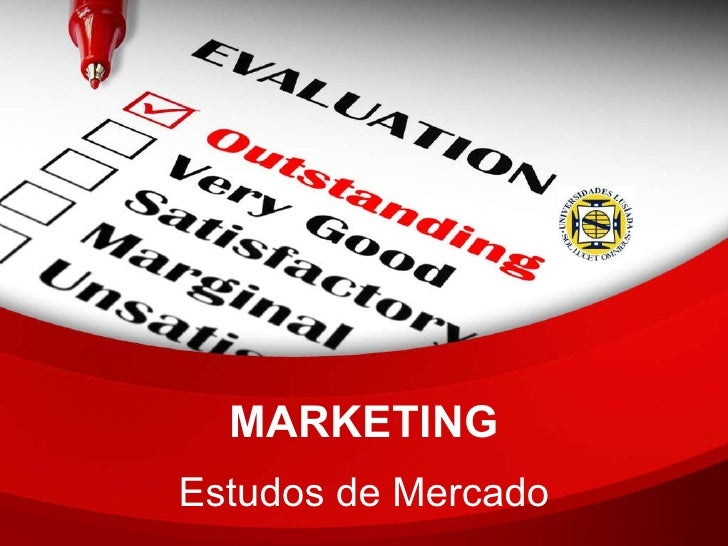 MARKETING Estudos de Mercado