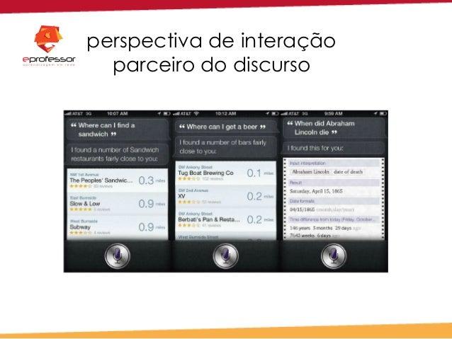perspectiva de interação parceiro do discurso