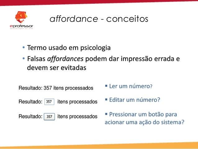 affordance - conceitos