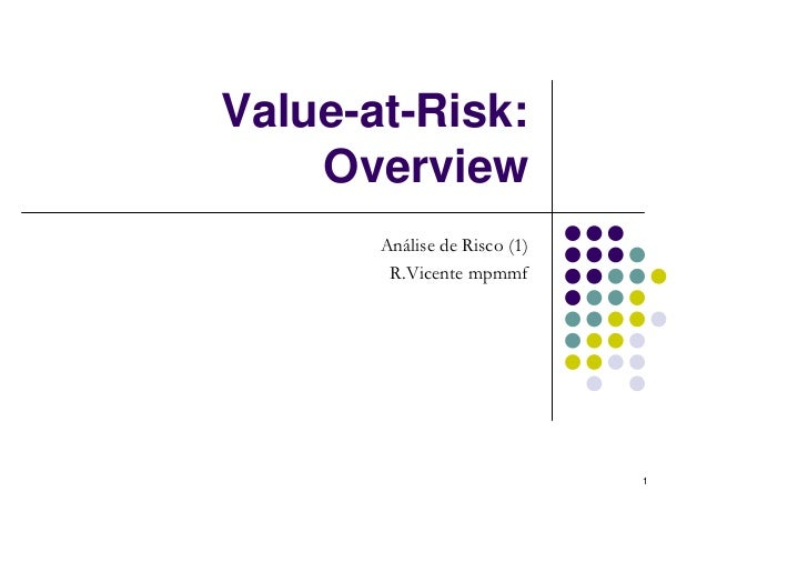 Value-at-Risk:    Overview       Análise de Risco (1)        R.Vicente mpmmf                              1