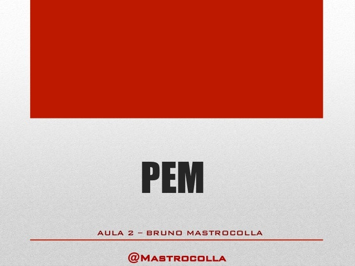 PEMAULA 2 – BRUNO MASTROCOLLA!     @Mastrocolla!