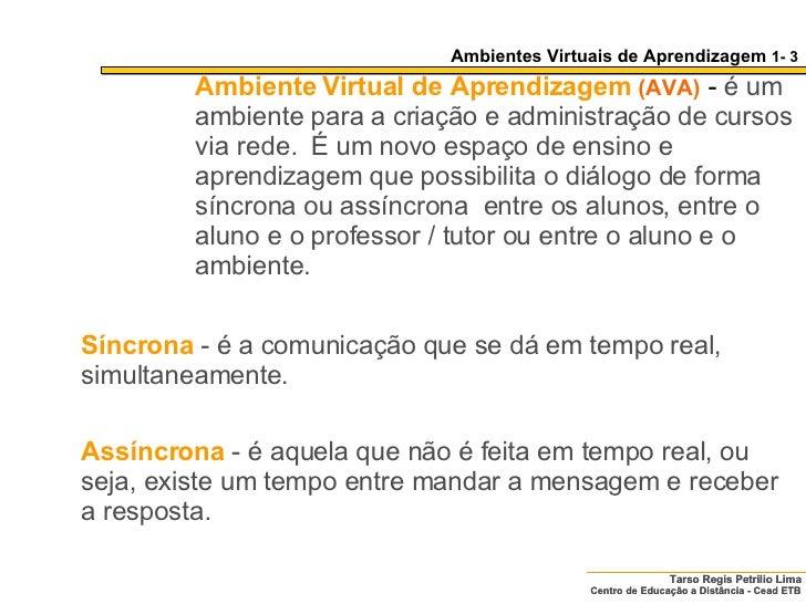 Ambientes Colaborativos de Aprendizagem Slide 3
