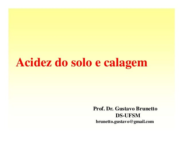 Acidez do solo e calagem              Prof. Dr. Gustavo Brunetto                        DS-UFSM               brunetto.gus...