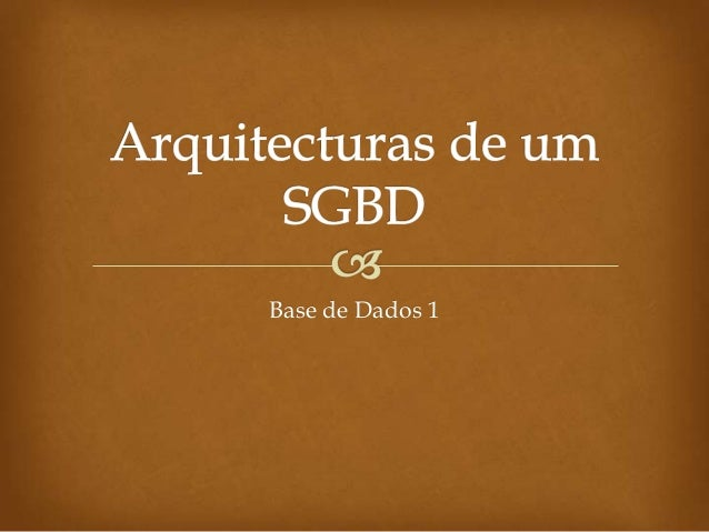 Base de Dados 1
