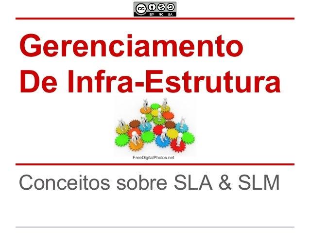 GerenciamentoDe Infra-Estrutura          FreeDigitalPhotos.netConceitos sobre SLA & SLM