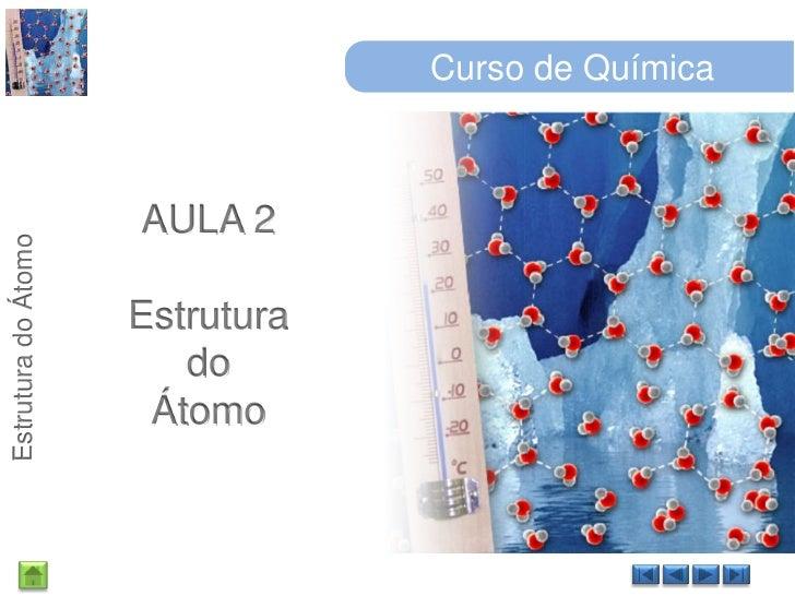 Curso de Química<br />AULA 2<br />Estrutura<br />do<br />Átomo<br />