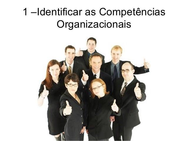 1 –Identificar as Competências Organizacionais