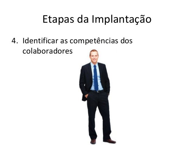 Etapas da Implantação 4. Identificar as competências dos colaboradores