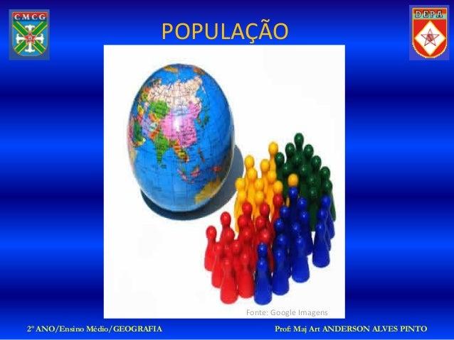 POPULAÇÃO                                 Fonte: Google Imagens2º ANO/Ensino Médio/GEOGRAFIA           Prof: Maj Art ANDER...