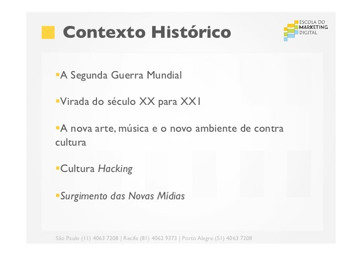 Contexto Histórico§A Segunda Guerra Mundial§Virada do século XX para XX1§A nova arte, música e o novo ambiente de...