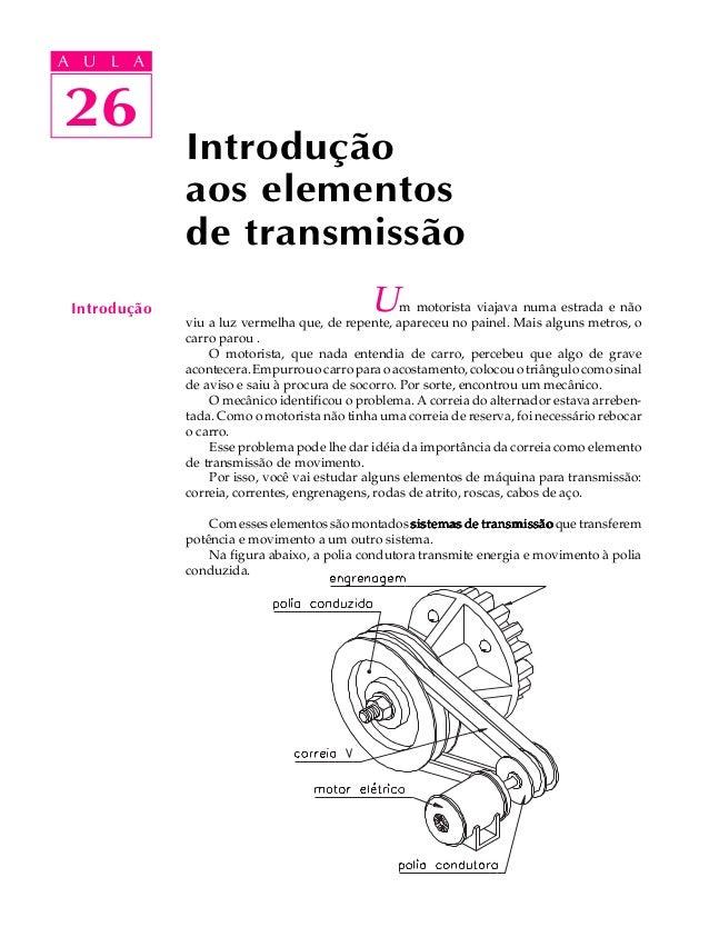 A UA U L A     L A    2626              Introdução              aos elementos              de transmissão Introdução      ...