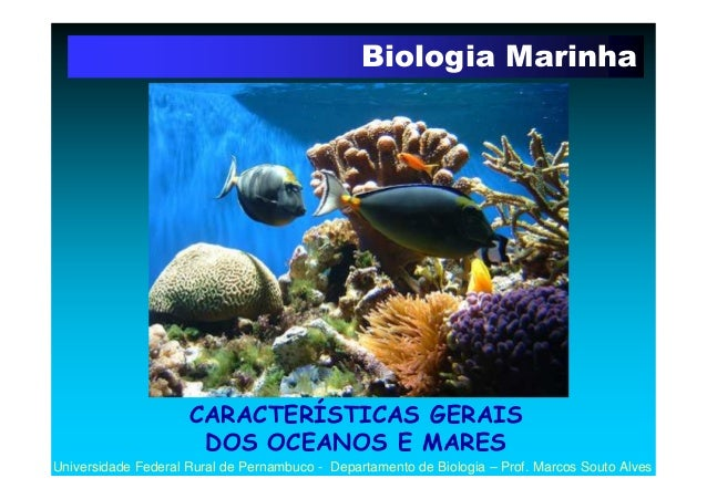 Biologia Marinha                     CARACTERÍSTICAS GERAIS                      DOS OCEANOS E MARESUniversidade Federal R...