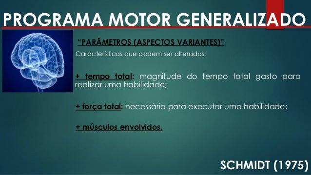 PROGRAMA MOTOR GENERALIZADO SCHMIDT (1975) EXEMPLOS DE ASPECTOS VARIANTES E INVARIANTES + força total: necessária para exe...