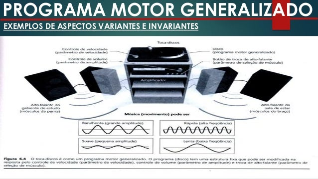 PROGRAMA MOTOR GENERALIZADO SCHMIDT (1975) Esquemas – conjunto de regras abstratas relacionadas aos resultados da ação com...