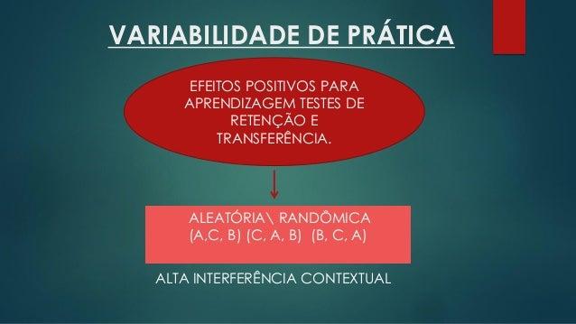 Variabilidade e estrutura de prática em Aprendizagem Motora