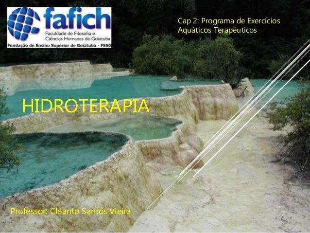 HIDROTERAPIA Professor: Cleanto Santos Vieira Cap 2: Programa de Exercícios Aquáticos Terapêuticos
