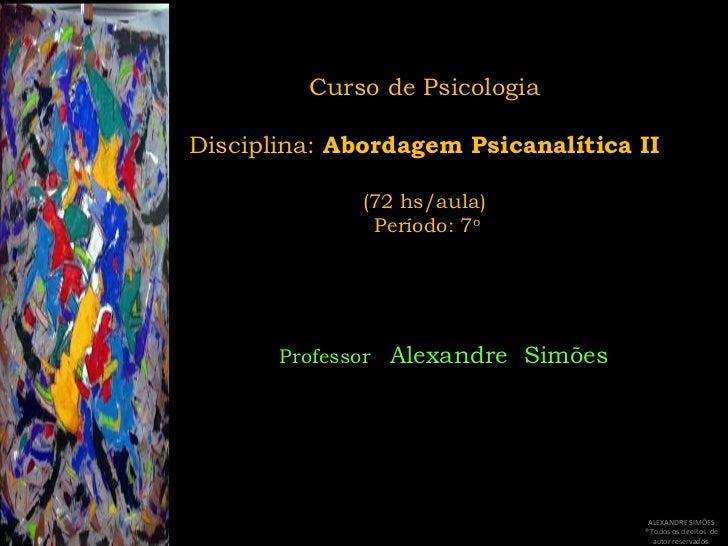 Psicanálise II - Aula 2: Transferência (parte I)