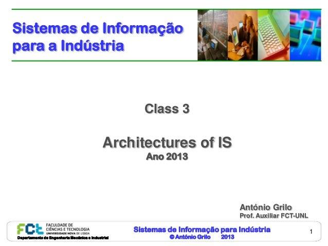 Sistemas de Informaçãopara a Indústria                                                     Class 3                        ...